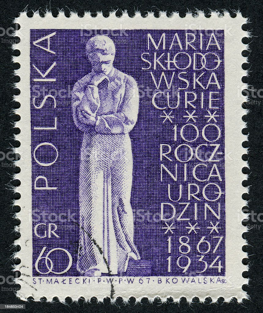 Marie Curie Stamp royalty-free stock photo