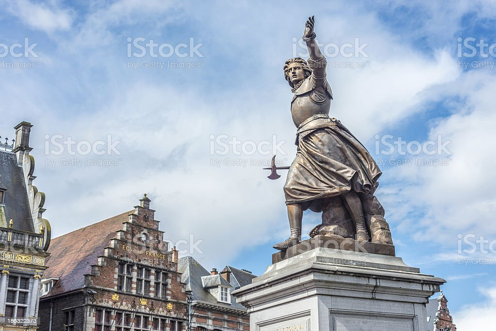 Marie-Christine de Lalaing in Tournai, Belgium. stock photo