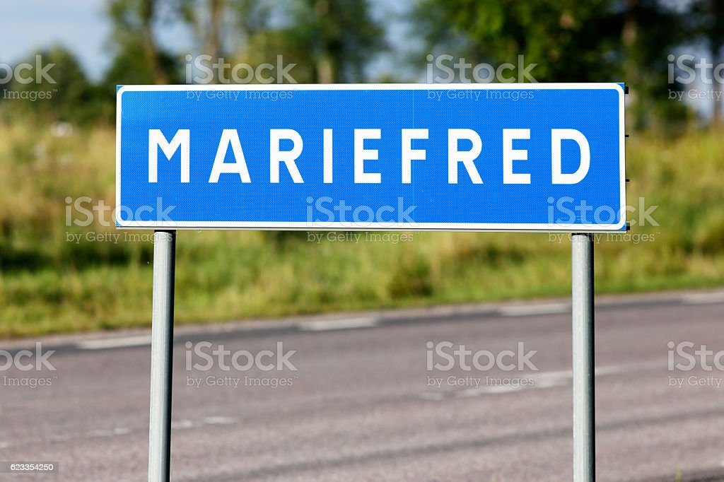 Mariefred stock photo