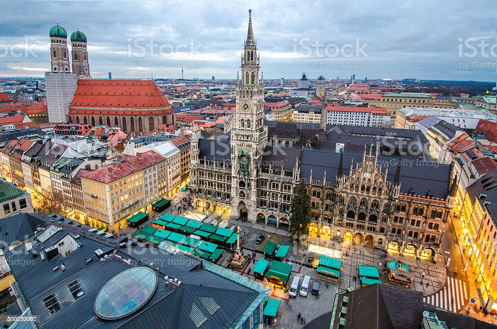 Marien Platz stock photo