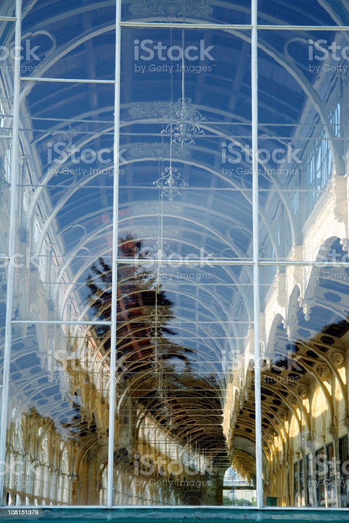 Marienbad colonnades royalty-free stock photo