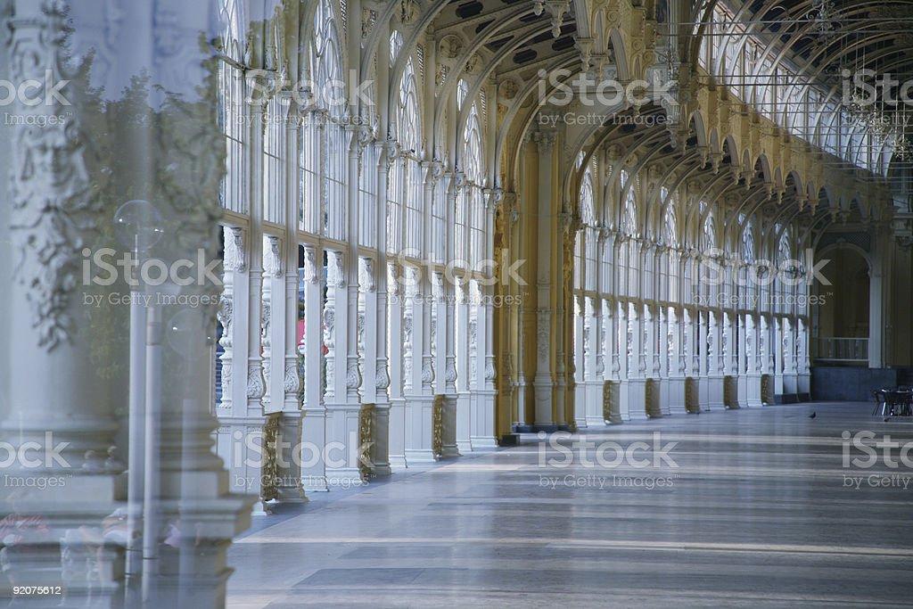 Marienbad colonnades royalty-free stock photo