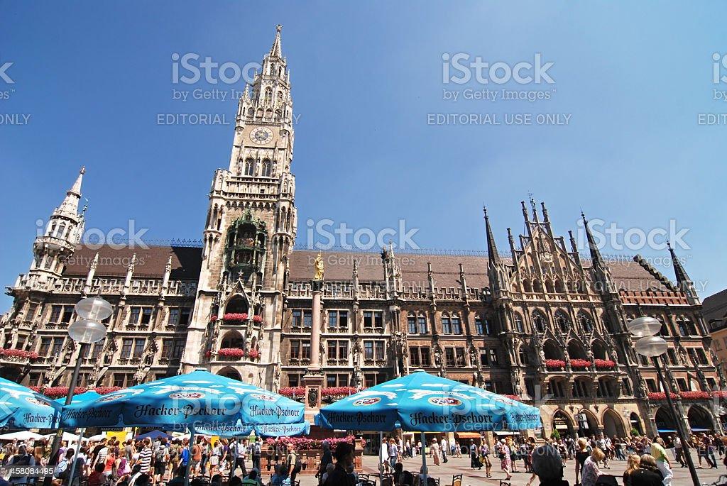 marienplatz in munich, germany stock photo