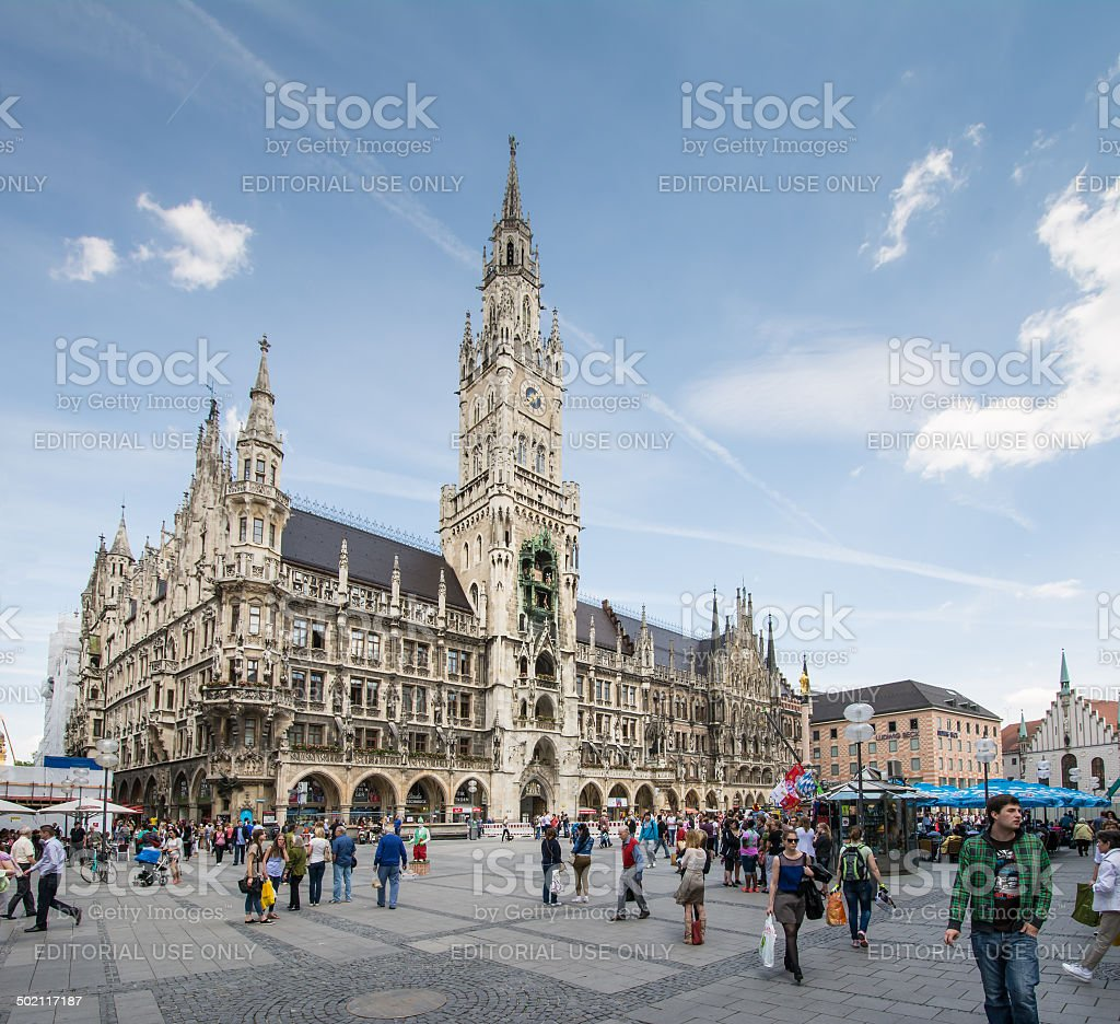 Marienplatz Munich stock photo