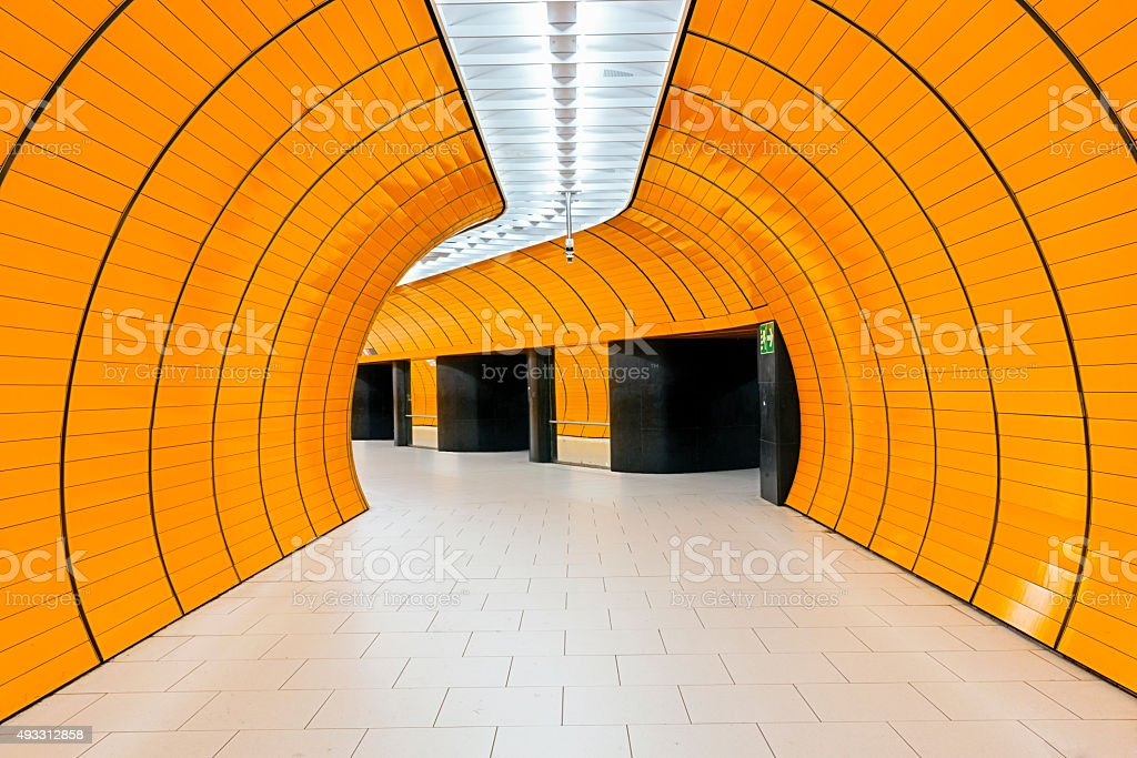 Marienplatz subway station in Munich stock photo