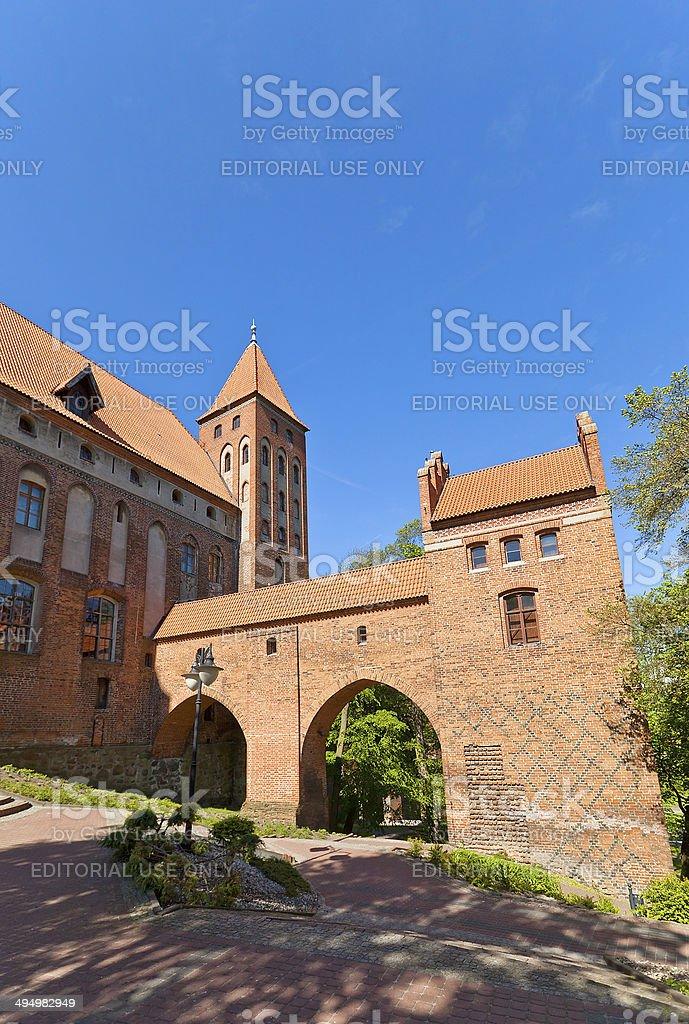 Marienwerder castle (1350) of Teutonic Order. Kwidzyn, Poland stock photo