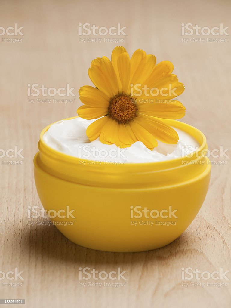 Marigold moistuizer stock photo