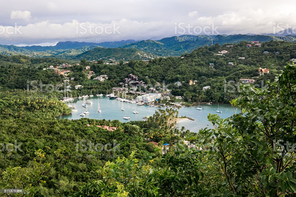 Marigot Bay stock photo