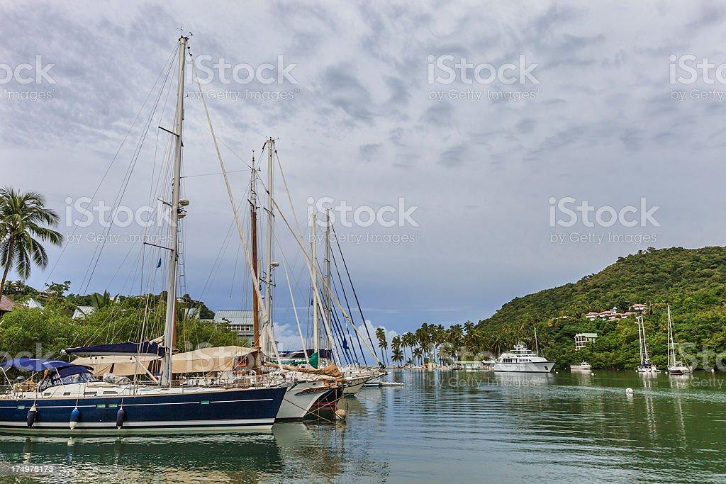 Marigot Bay, Saint Lucia stock photo