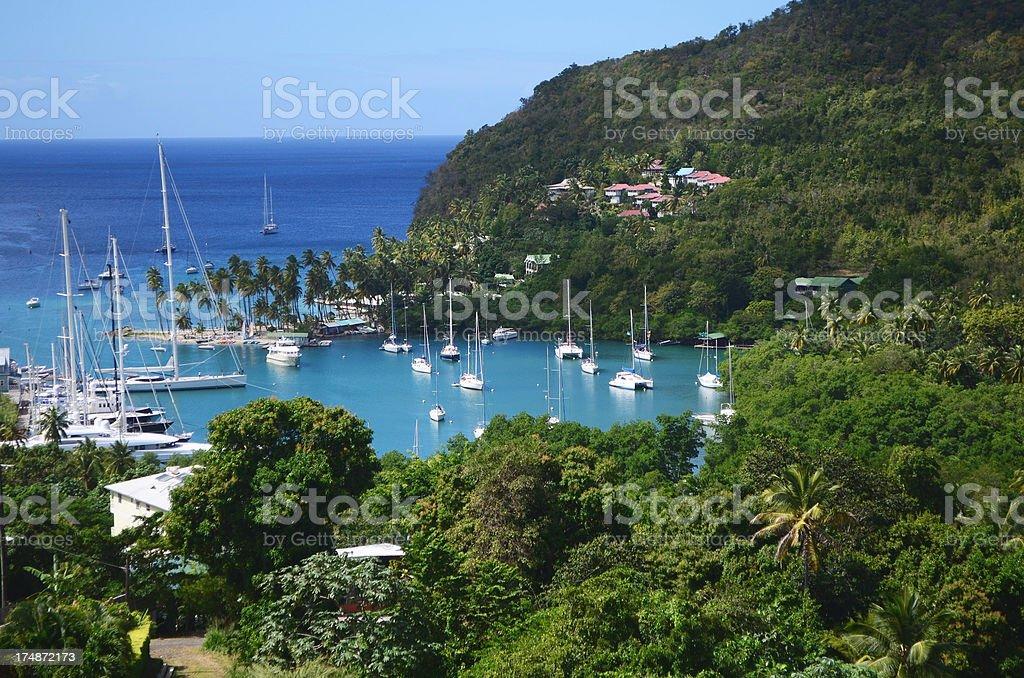Marigot Bay St Lucia royalty-free stock photo