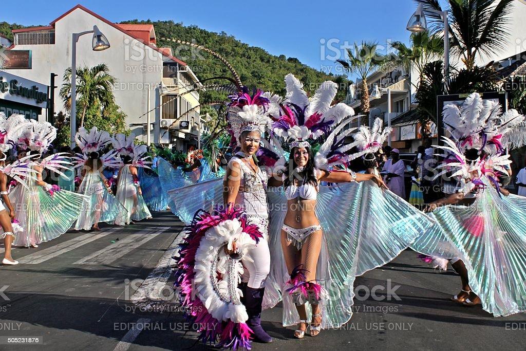 Marigot Carnival 2015 - 3 stock photo
