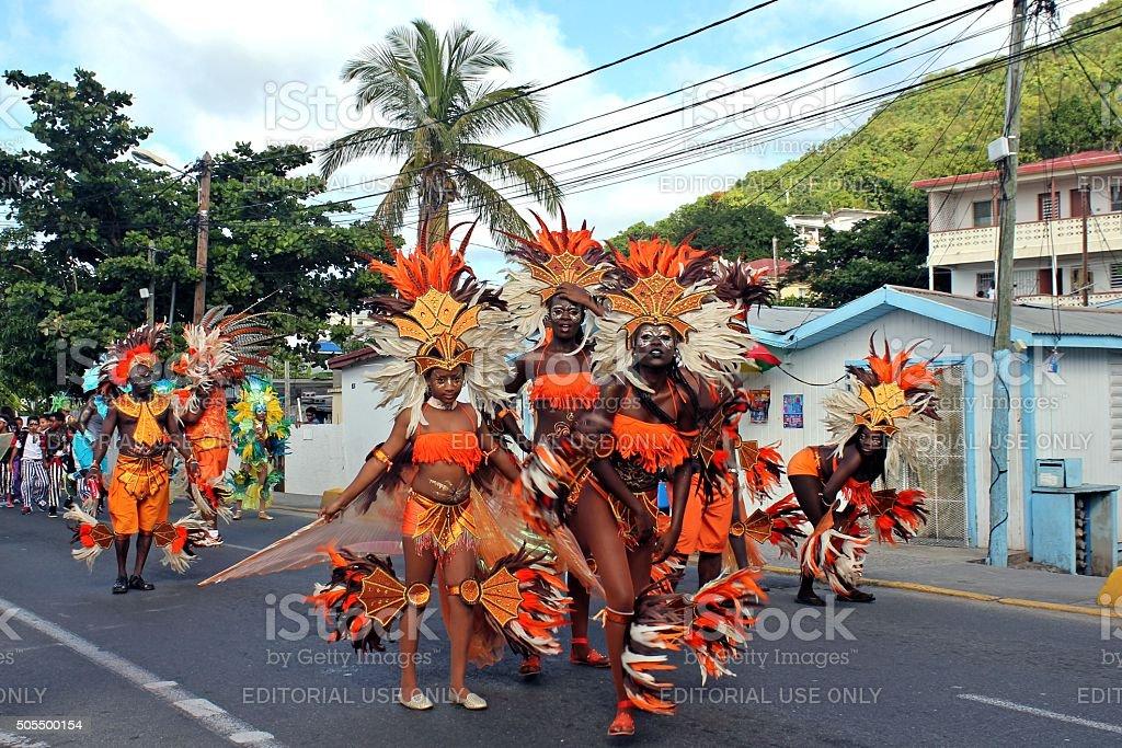 Marigot Carnival 2015 - 4 stock photo