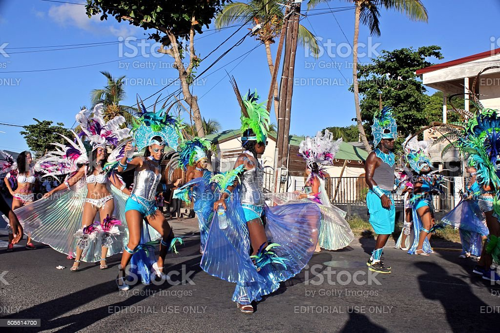 Marigot Carnival 2015 - 6 stock photo