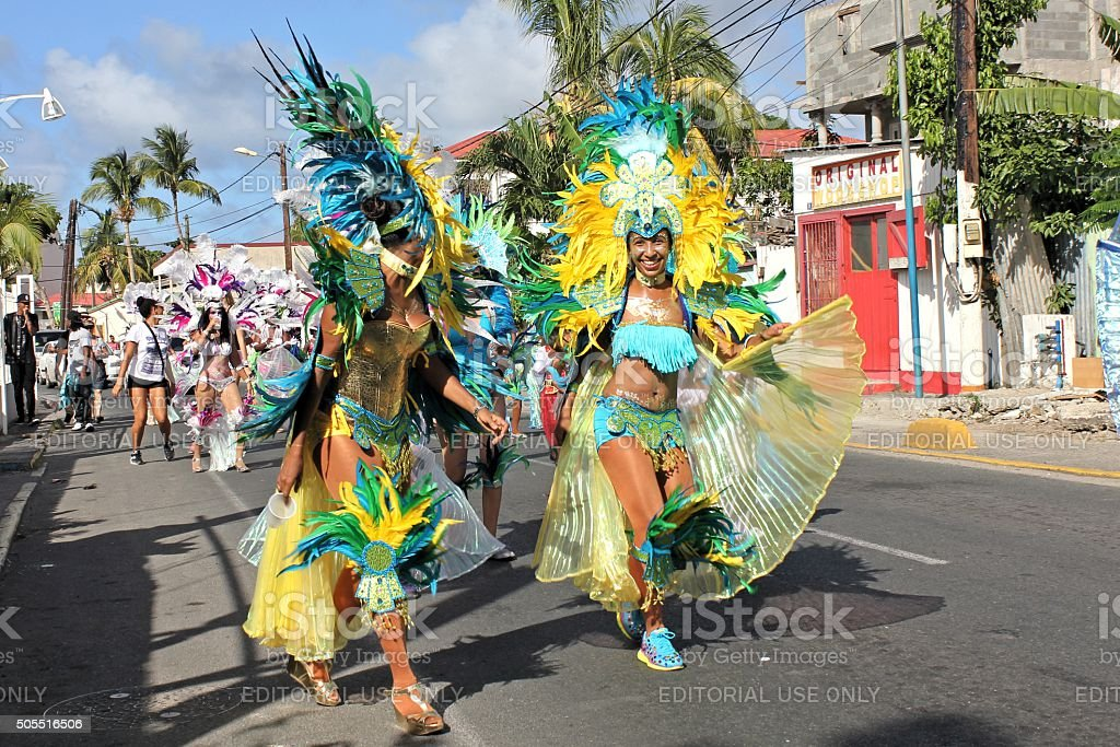 Marigot Carnival 2015 - 7 stock photo