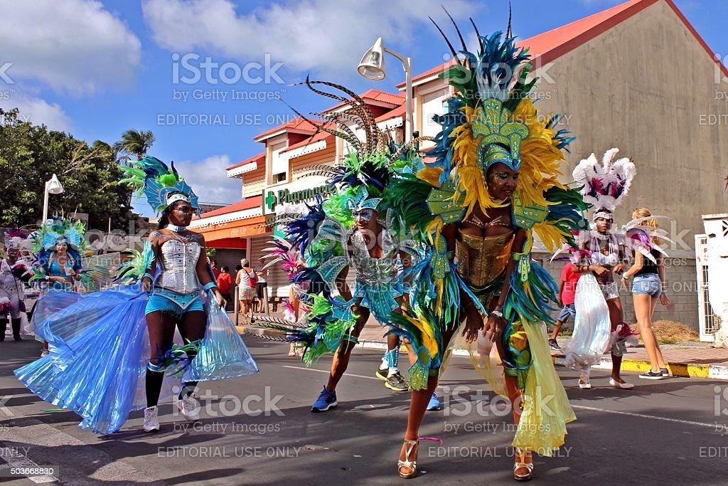 Marigot Carnival 2015 stock photo