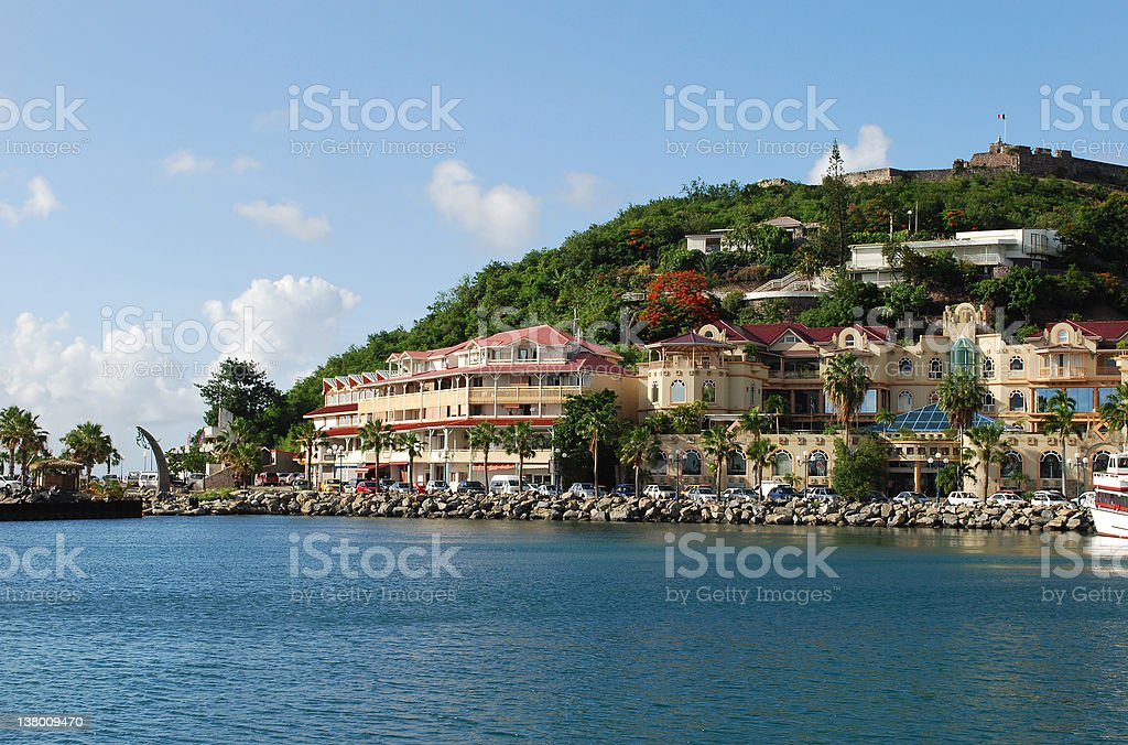 Marigot city stock photo