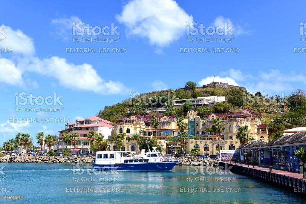 Marigot, St. Martin stock photo
