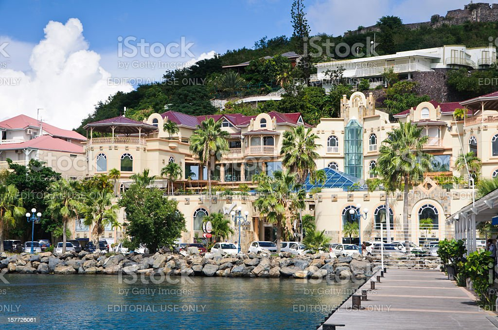 Marigot Upscale Shopping stock photo