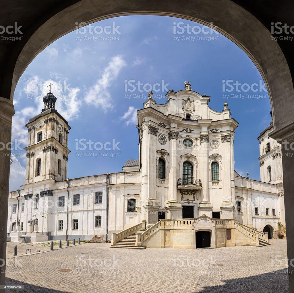 Mariinsky catholic church stock photo