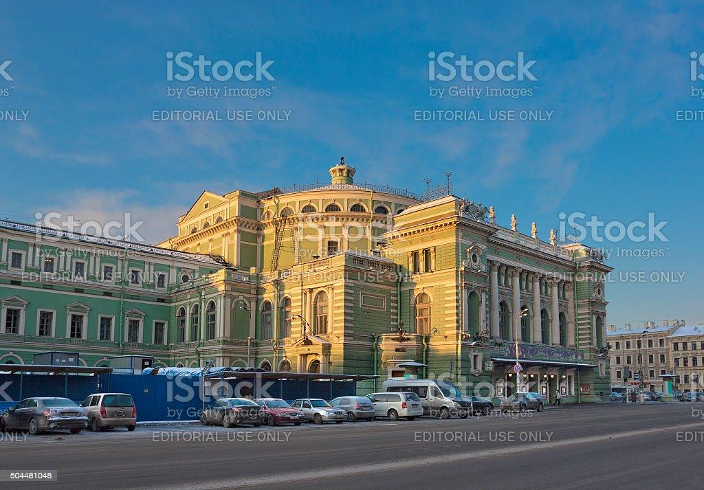 Mariinsky Theatre in Saint Petersburg, Russia stock photo