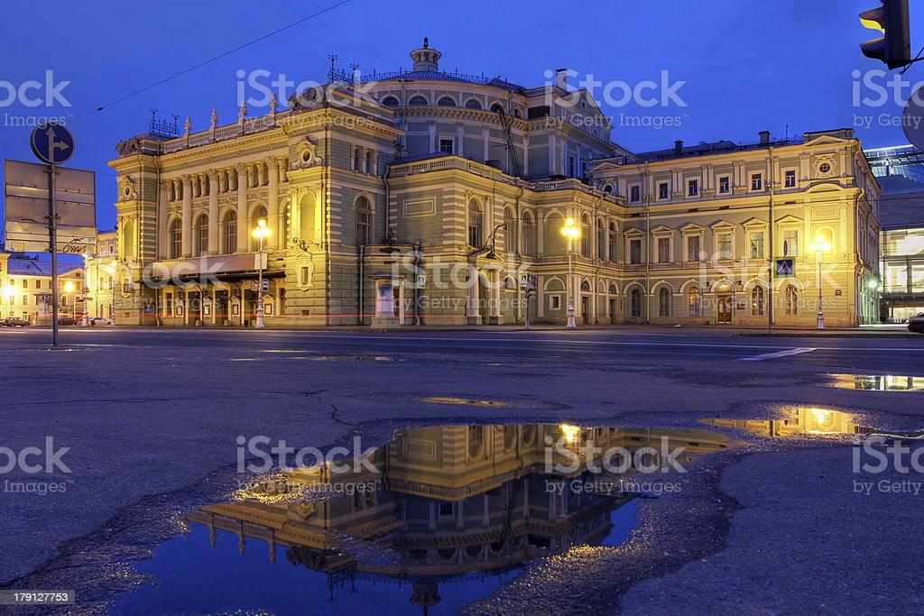 Mariinsky Theatre, Saint Petersburg, Russia stock photo
