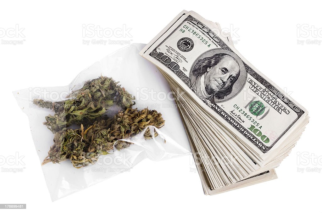 Marijuana and Cash royalty-free stock photo