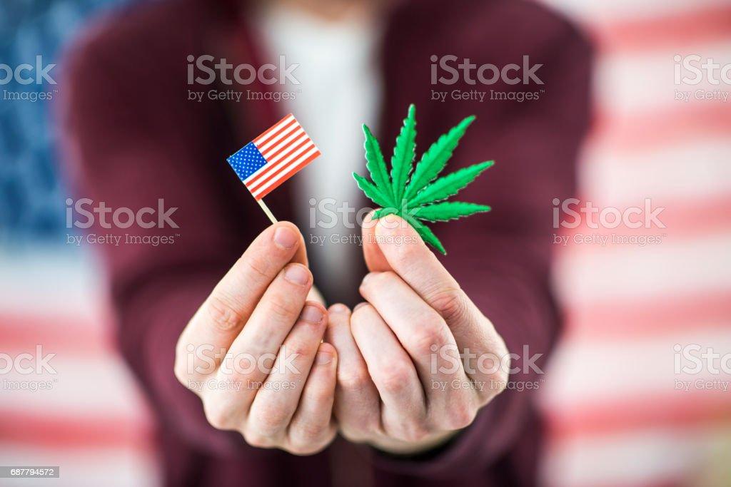 Marijuana Cannabis Legalization stock photo