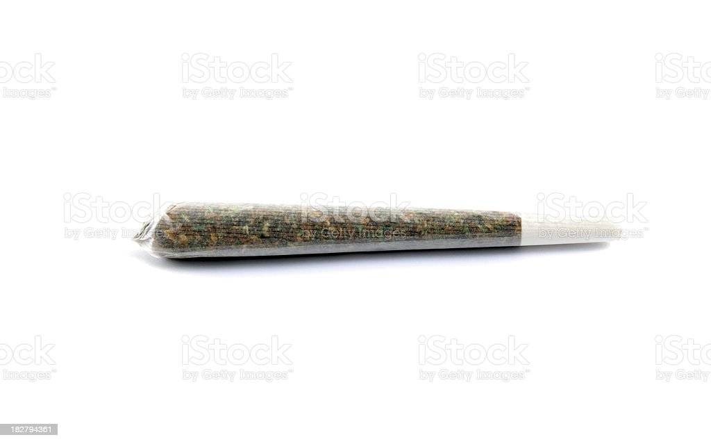 Marijuana joint isolated stock photo