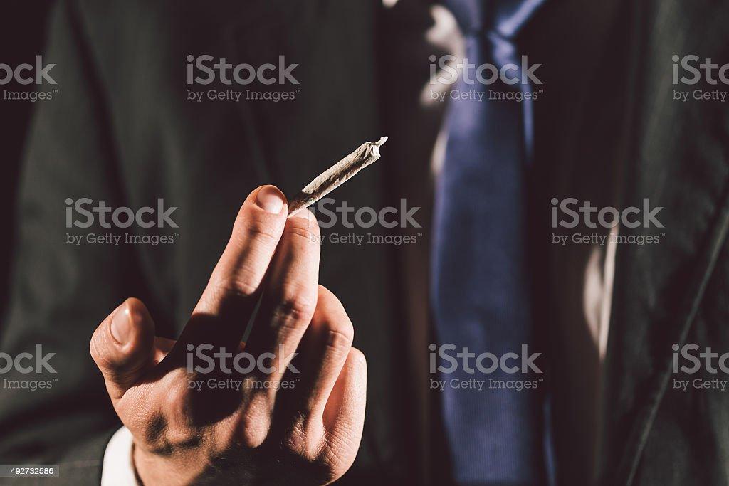 Marijuana joint stock photo