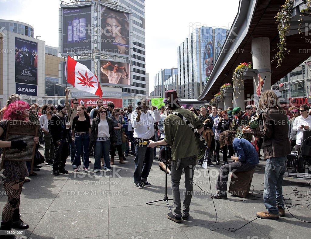 Marijuana Rally in Toronto royalty-free stock photo