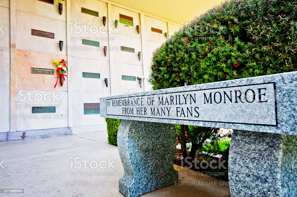 Marilyn Monroe Grave,  Los Angeles stock photo