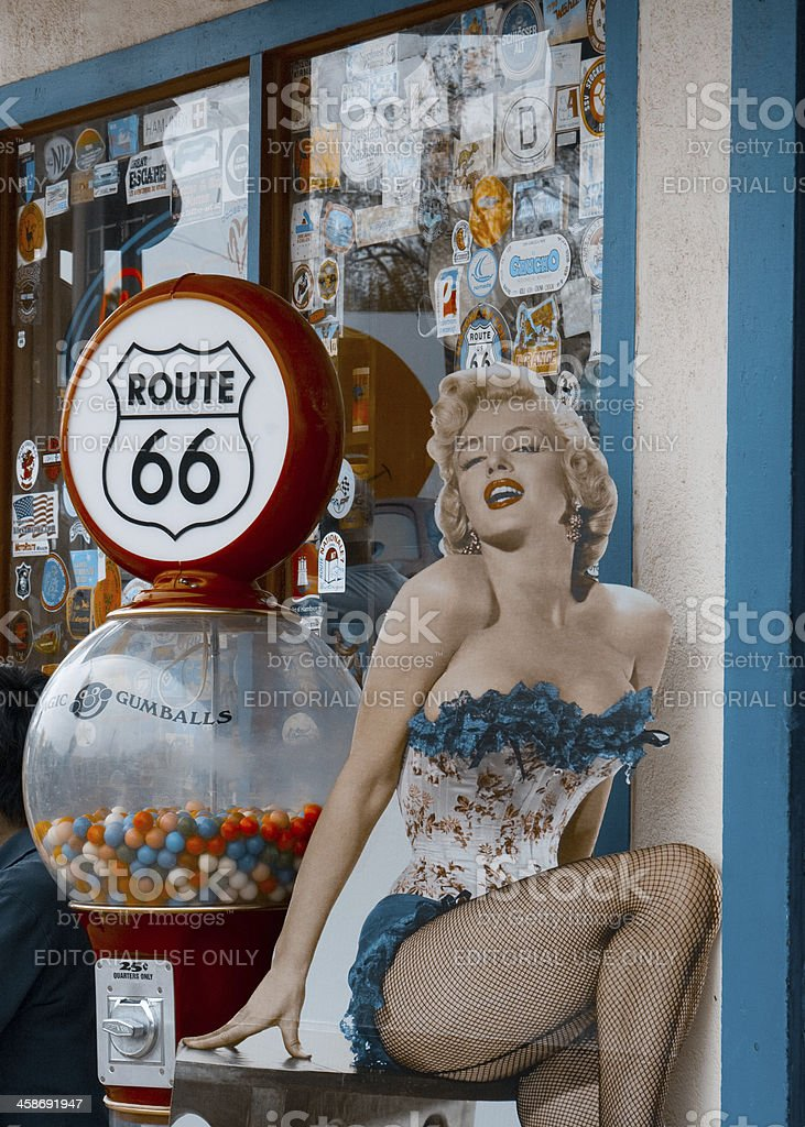 Marilyn Monroe on Route 66 stock photo