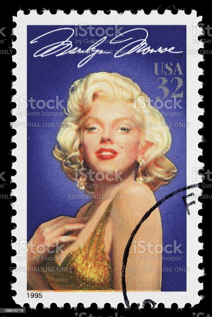 USA Marilyn Monroe postage stamp stock photo