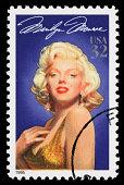 USA Marilyn Monroe postage stamp