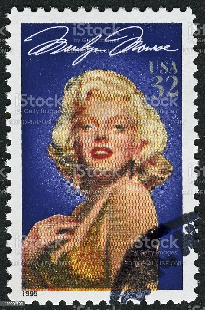 Marilyn Monroe Stamp stock photo