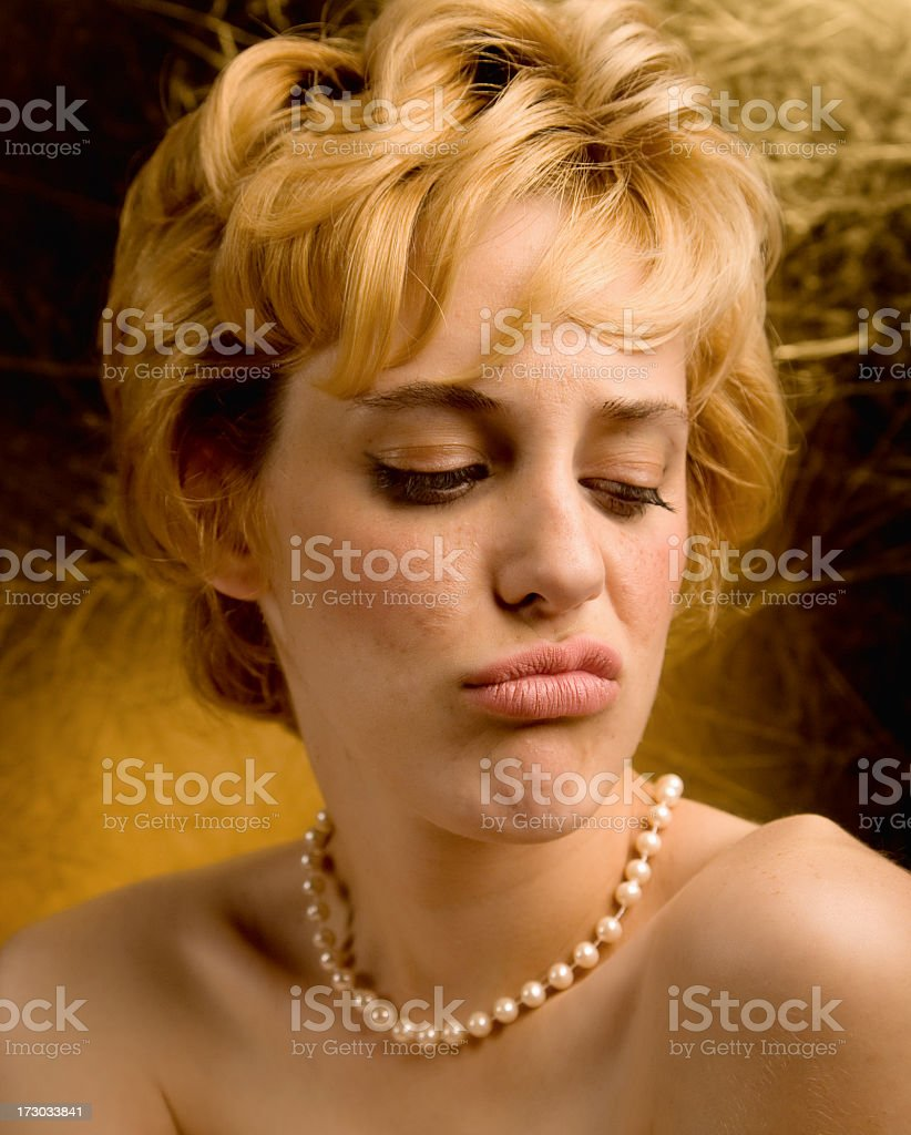 marilyn pouting royalty-free stock photo