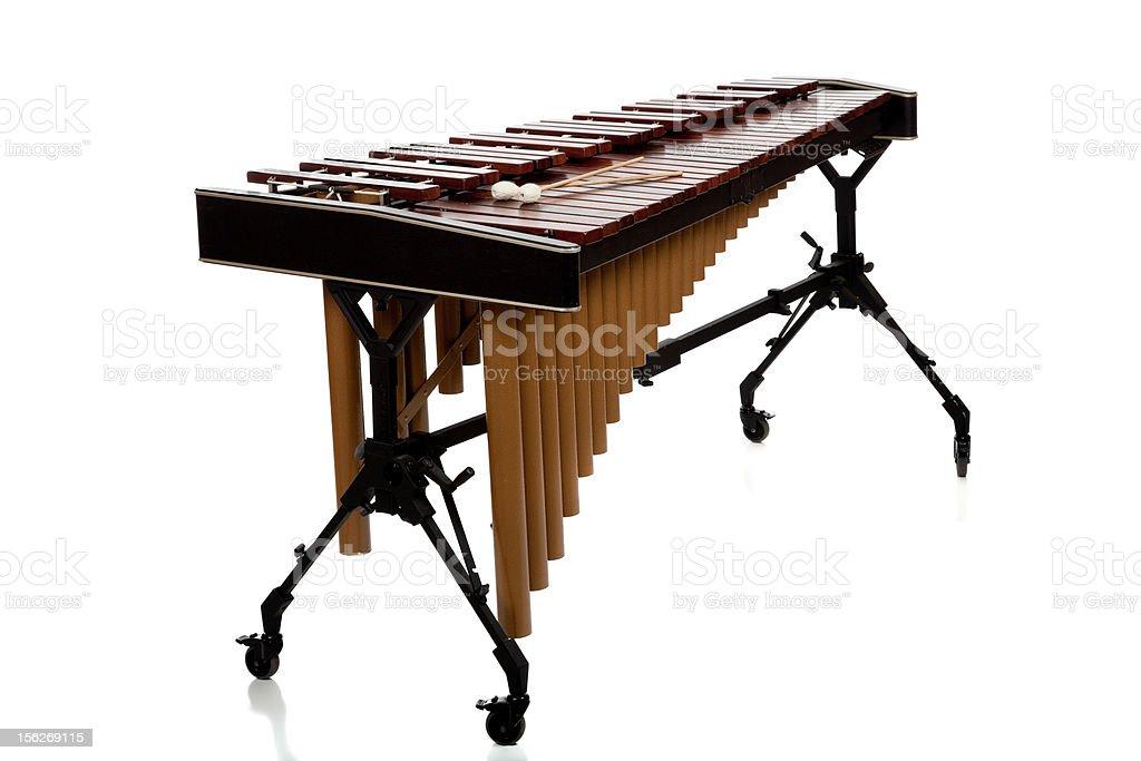 Marimba on white background stock photo