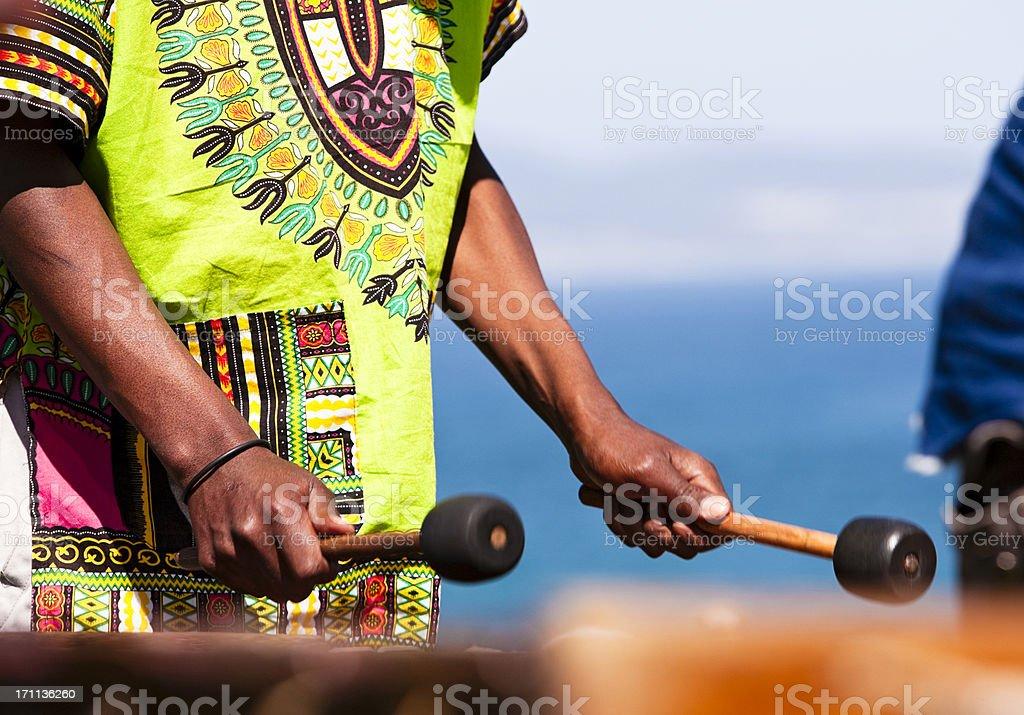 Marimba player stock photo