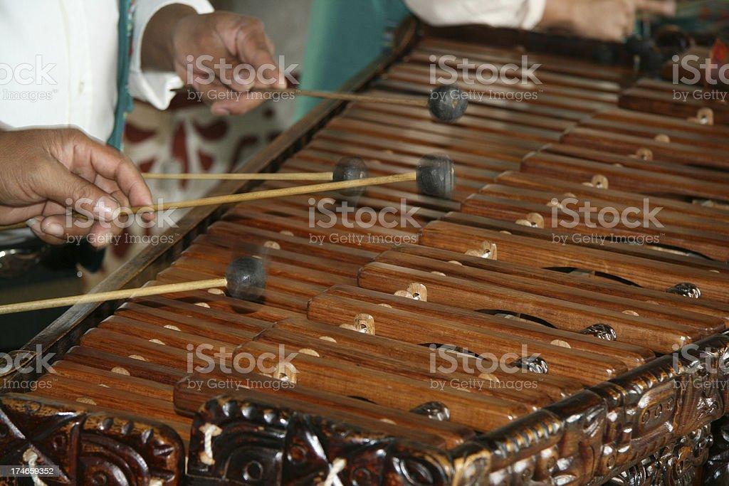 Marimba Players in Guatemala stock photo