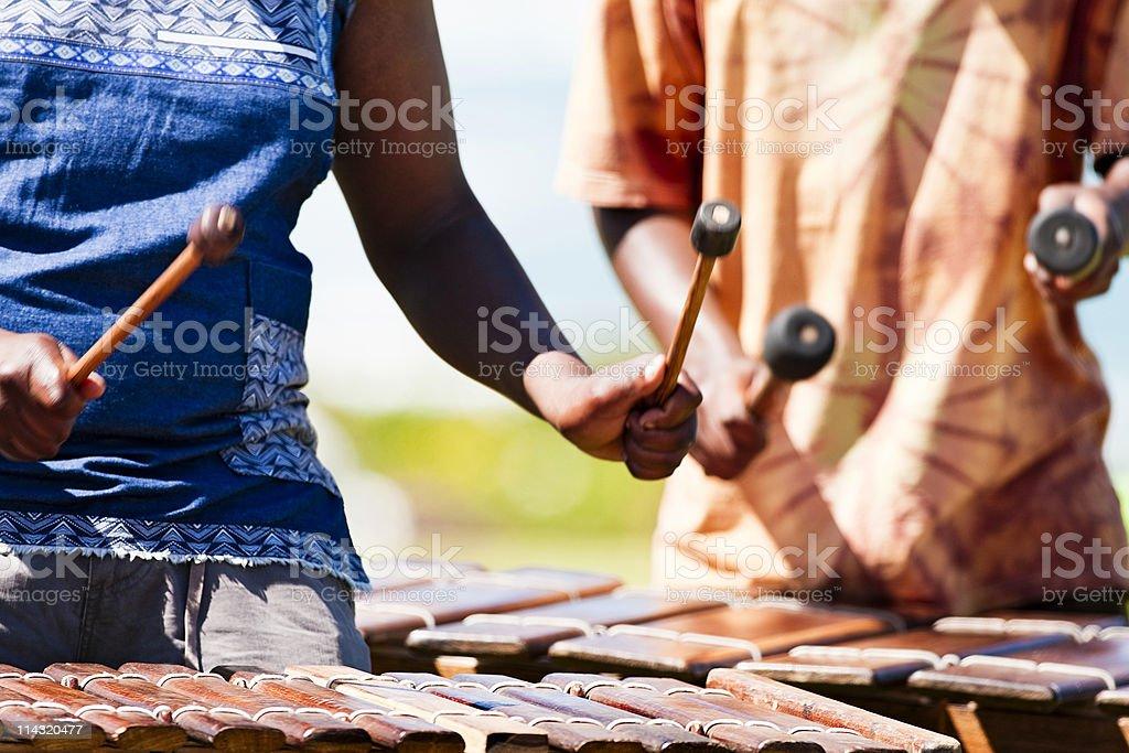 Marimba players royalty-free stock photo