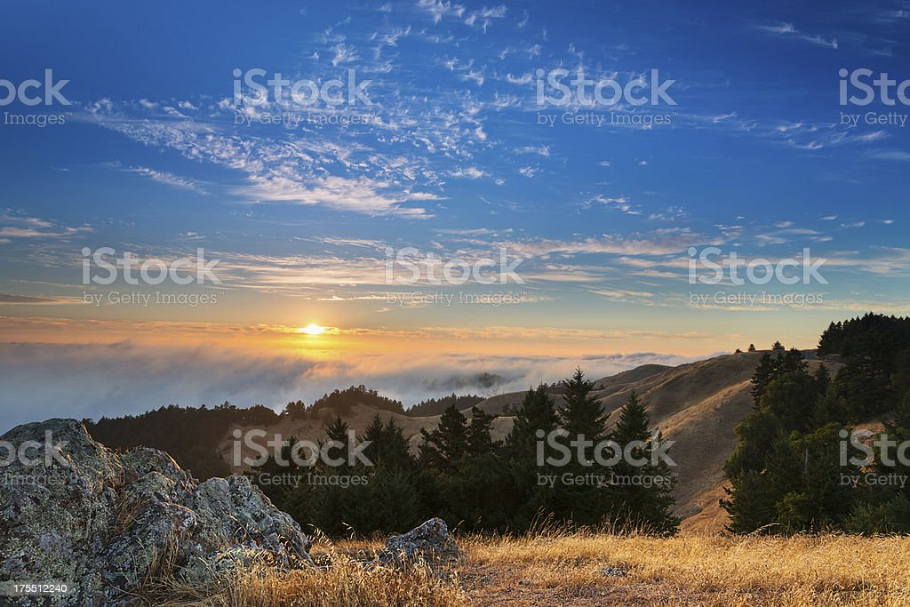 Marin California Sunset stock photo