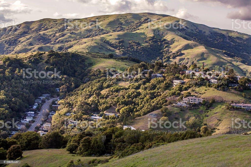 Marin county hills stock photo