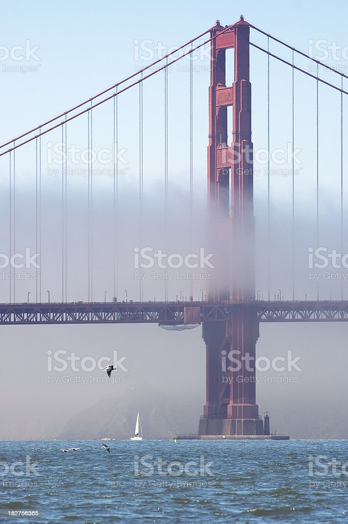 Marin Tower in Fog, Golden Gate Bridge royalty-free stock photo