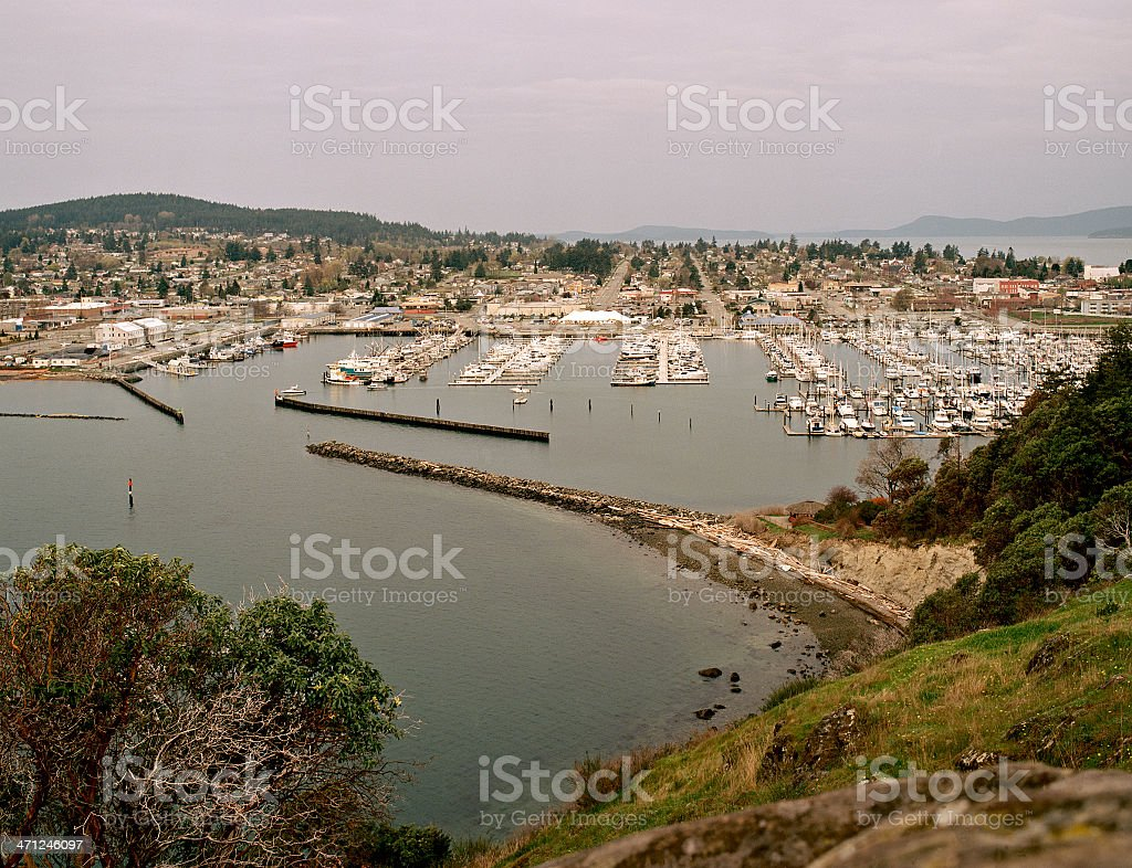 Marina, Anacortes, Washington, United States stock photo