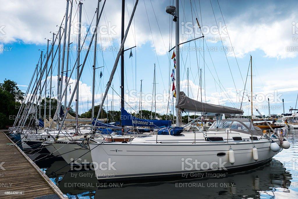 Marina and Boats in Copenhagen stock photo