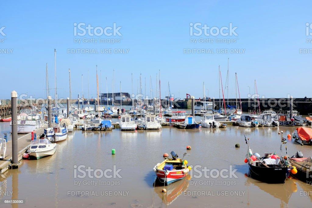 Marina and harbor, Bridlington, Yorkshire. stock photo