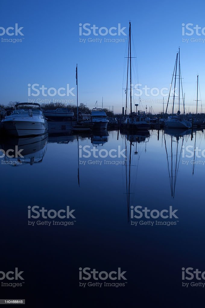 Marina at dusk royalty-free stock photo