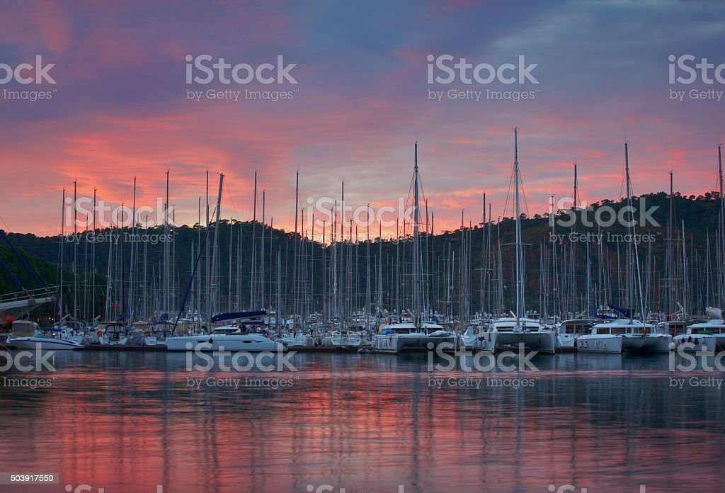 marina at Fethiye stock photo