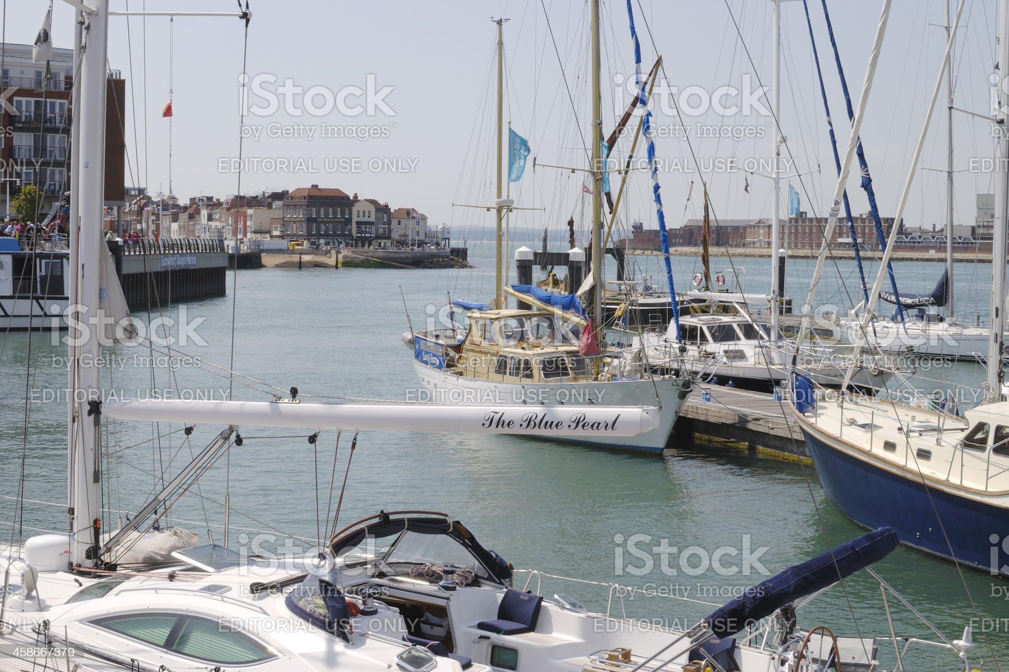 Marina at Gunwharf Quays. Portsmouth. UK royalty-free stock photo