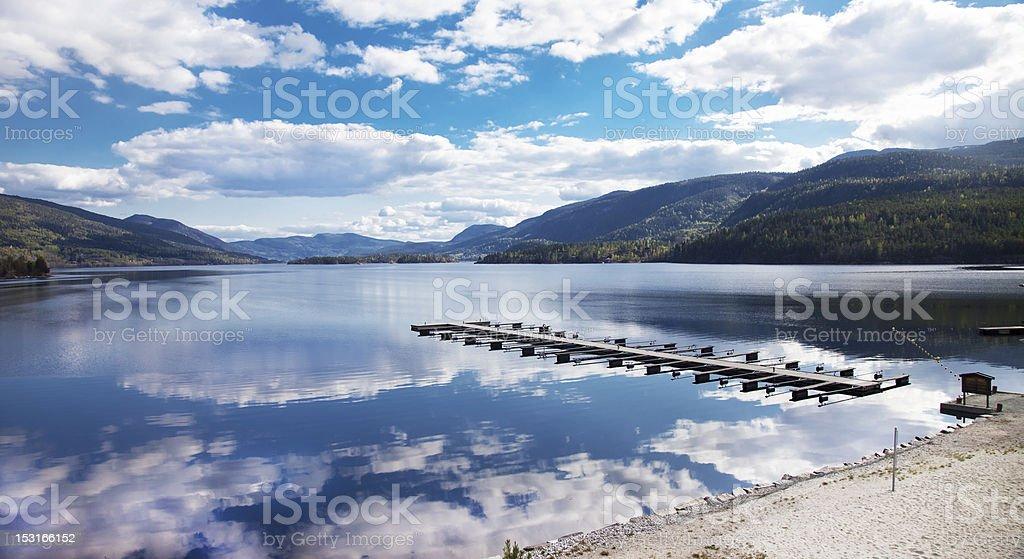 Marina at Hallingporten in Norway stock photo